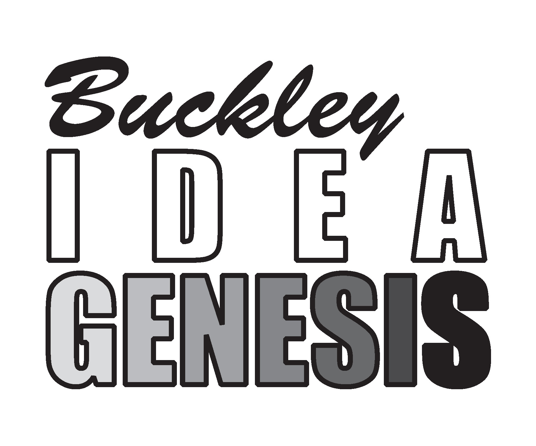 Buckley Idea Genesis Letter Logo OUTLINES